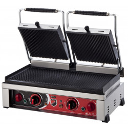 Silver Style Electric Double Lid Hamburger Machine 20 Slices